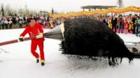"""中国顶级""""书法家"""",现场写出50米""""巨龙"""",成品展出轰动业内!"""