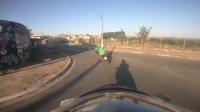 真实的摩托车追捕比电影刺激