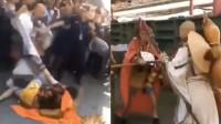 """北京潘家园旧物市场两""""大王""""打架 一人头破血流引众人围观"""