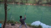 小莫野钓第二天疯狂上鱼,甩竿甩到手软,收获好多河鱼,太过瘾了