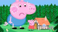 太奇怪!乔治和小猪佩奇一起坐车,可是他为何哭了?猪爸爸怎么办?儿童趣味游戏玩具故事