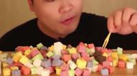 韩国胖哥吃播,咀嚼声控的别错过,你会流口水的