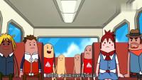 搞笑吃鸡动画:玩家们非法组队,霸哥等人混进里面做了件大事,太壮观了!