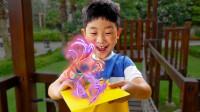越看越奇妙!萌宝小正太会变魔法吗?怎么变出气球和面包?儿童亲子趣味游戏玩具故事