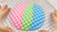 無硼砂 無膠水3色混合DIY制作正方形史萊姆 是不是很好玩?