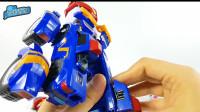 早教益智:越野车直升机组装机器人玩具