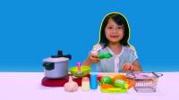 蔬菜切切乐玩具,可切可剥皮蔬菜,厨房玩具