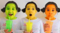 越看越奇妙!萌宝小萝莉喝了什么魔法饮料?怎么脸蛋变成这样了?儿童亲子趣味早教益智游戏玩具故事
