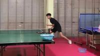 乒乓球日常训练:这个球拉的好,给你一个教科书式的拉球!