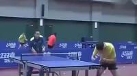 乒乓球:刘国梁教许昕打球,一记扣杀直接把许昕看懵了,太牛了