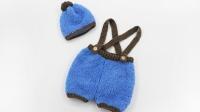 织一片慢生活----珊瑚绒背带裤帽子