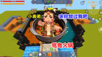 迷你世界:小表弟欺负大表哥,骗他吃饭,却把他做成鸳鸯火锅
