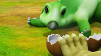 帮帮龙出动:小恐龙哭着要喝水,肯氏兽敲开坚硬果实,让它能喝水