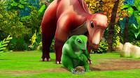帮帮龙出动:恐龙躲在洞穴里,可是地震时洞穴不安全,还会坍塌