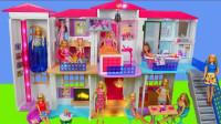 芭比梦想屋玩具拆箱