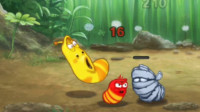 爆笑虫子 小红与小黄合力攻打僵尸虫 亲子益智