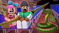 小飞象解说✘Roblox飞机故事模拟器 飞机遭遇劫持!而且还有毒蛇?乐高小游戏