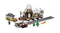 LEGO乐高积木玩具创意系列10259冬季村庄车站套装速拼
