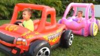 哥哥戏耍妹妹,想和妹妹一起玩,妹妹只好给他变出一辆帅气玩具车