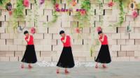 阳光美梅原创广场舞【依依不舍离开你】抒情舞蹈-正背面附教学-编舞:美梅