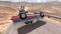BeamNG模拟汽车超高速碰撞