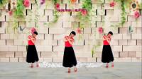 阳光美梅原创广场舞【依依不舍离开你】背面演示-编舞:美梅