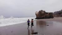 花絮 清晨的加州海滩边LAURA ME TIME BTS