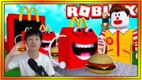 小飞象解说✘Roblox麦当劳大亨 拥有吃不完的汉堡包!儿童套餐超炫酷玩具!乐高小游戏