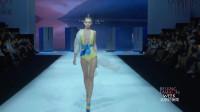 时装秀:美女时尚走秀,鹅黄色的服装,真是性感又潮流