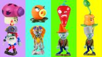 新版植物大战僵尸玩具,会说话的僵尸茄子大喷菇和樱桃炸弹