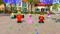 乐高超人总动员游戏第3期:顺利解决冰淇淋危机★积木玩具游戏★哲爷和成哥