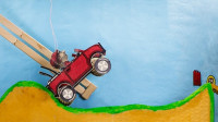 老外用纸板制作爬山赛车,翻山越岭不在话下,网友:感觉很好玩!