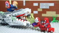定格动画:乐高复仇者联盟 - 钢铁侠蜘蛛侠绿巨人等大战怪兽