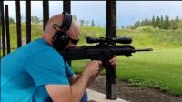 小口径步枪靶场射击测试,后坐力几乎为零,声音小的可以不戴耳麦