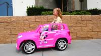 萌娃小可爱的玩具汽车被熊孩子给偷偷开走了!—萌娃:使用别人的东西要经过允许哟!