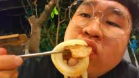 韩国大胃王小胖,试吃特色烤肉,这吃相看着真香啊