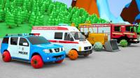 神奇搅拌机和彩色工程车汽车玩具