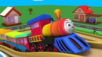 小动物们乘坐小火车出发去游玩