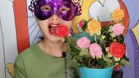 """妹子吃创意""""玫瑰花盆栽巧克力"""",花叶盆土都能吃,醇厚又甜蜜"""
