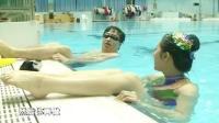 美女冠军的花样游泳教学,摄像大哥你还hold住吗?