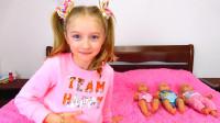 萌娃小可爱照顾宝宝们睡午觉的时候可不能一心两用哟!—萌娃:是谁在外面卖冰淇淋呀?
