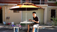 拆箱测评一款户外折叠桌椅,展开像学校食堂的餐桌,收纳起来像我的钓台!