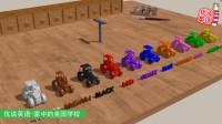 抽屉里的10台玩具拖拉机,依次用毛笔涂颜色,你喜欢哪一个?