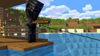 我的世界动画短片:怪物学院一个新的学生游泳时竟捕捉到美人鱼