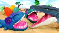 鲨鱼偷吃恐龙蛋 大嘴恐龙来教育 霸王龙历险记
