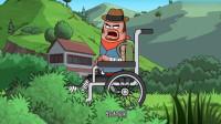 搞笑吃鸡动画:沙博士的新坐骑看起来很弱,但是一用到实战,真香!