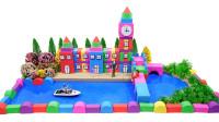 手工制作彩色城堡和大花园