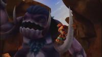 猪猪侠中了怪兽的圈套,被骗到大峡谷,比蒙兽已经等候他多时