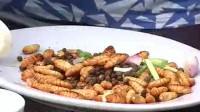 广东大厨新学菜式,蚕蛹都是油炸,但这蚕蛹是用黄豆去蒸的