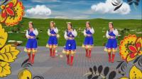 广场舞《吉祥雪莲花》草原旋律 歌声悠扬 民族舞蹈 优美好看